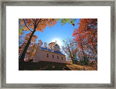 Little Cataloochee Church Framed Print