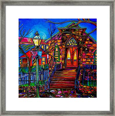 Little Church At La Villita II Framed Print by Patti Schermerhorn