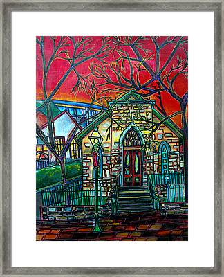 Little Church At La Villita Framed Print