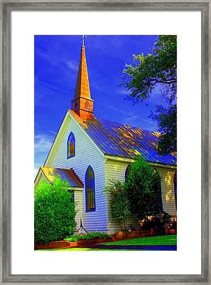 Little Church Framed Print by Jill Tennison