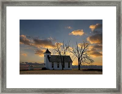 Little Church On The Prairie Framed Print