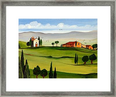 Framed Print featuring the painting Little Church by Roberto Gagliardi