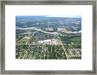 Little Chute Wrightstown Framed Print by Bill Lang