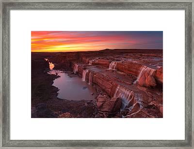 Little Colorado Sunset Framed Print by Darren White