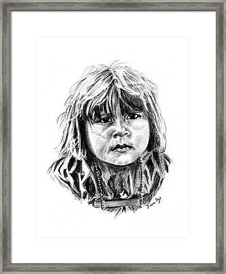 Little Comanche Framed Print