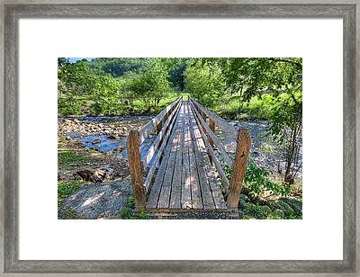 Framed Print featuring the photograph Little Country Bridge by Tim Stanley