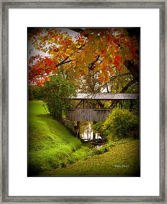 Little Covered Bridge Framed Print by Trina Prenzi