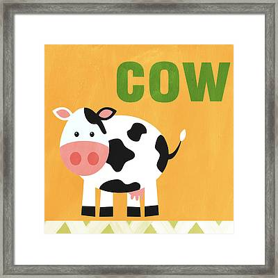 Little Cow Framed Print by Linda Woods