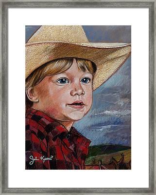 Little Cowboy Framed Print by John Keaton