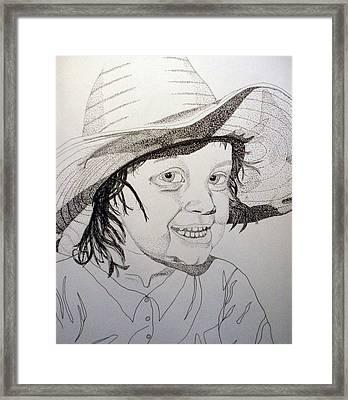 Little Cowgirl Framed Print by Michael Runner