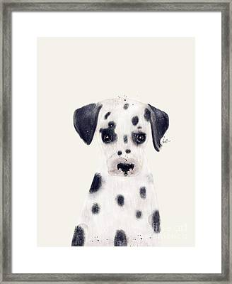 Framed Print featuring the painting Little Dalmatian by Bri B