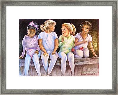 Little Dancers  Framed Print