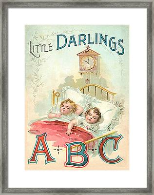 Little Darlings Patriot Book Cover Framed Print by Reynold Jay