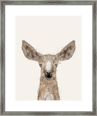 Little Deer Fawn Framed Print