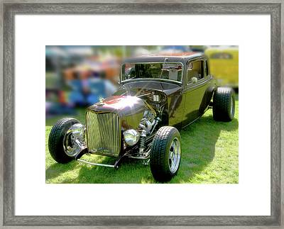 Little Deuce Coupe In Root Beer Brown Framed Print by Gary Baird