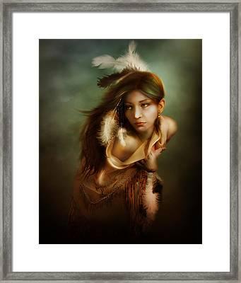 Little Dove Framed Print by Mary Hood