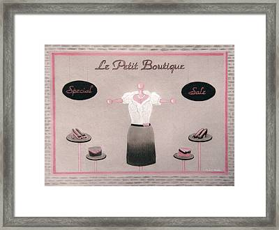 Little Dress Shop Framed Print by Nicole I Hamilton