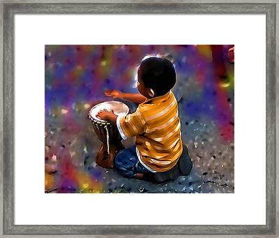 Little Drummer Boy Framed Print by James  Mingo