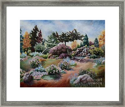 Framed Print featuring the painting Little Eden by Brenda Thour