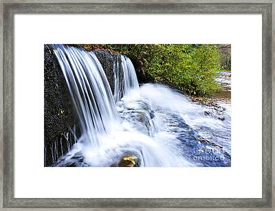 Little Elbow Waterfall And Williams River Framed Print by Thomas R Fletcher
