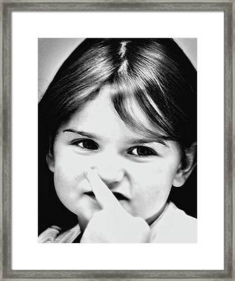 Little Emma Framed Print
