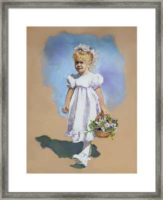 Little Flower Girl Framed Print