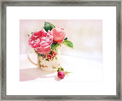 Little Flowered Jug Framed Print
