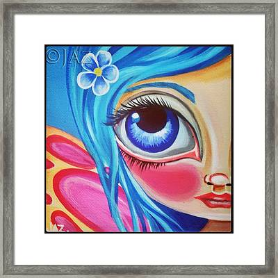Little forget Me Not Fairy 🌸 Framed Print by Jaz Higgins