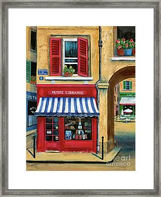 Little French Book Store Framed Print