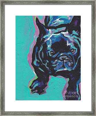 Little French Bully Framed Print by Lea S