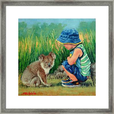 Little Friends Framed Print