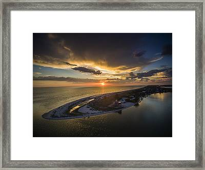 Little Gasparilla Island Point Sunset Framed Print by Nick  Shirghio