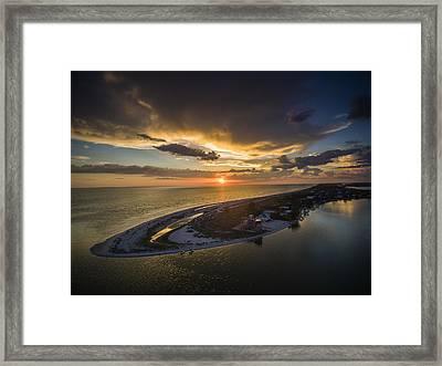 Little Gasparilla Island Point Sunset Framed Print
