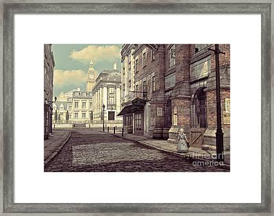 Little Girl In London Framed Print by Jutta Maria Pusl