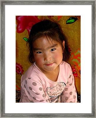Little Girl Of The Gobi Framed Print