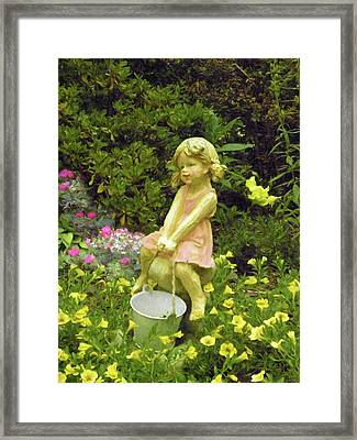 Little Girl With Pail Framed Print
