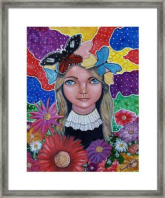 Little Girls Dream Framed Print by Saranya Haridasan