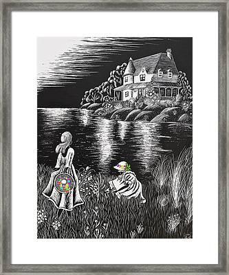 Little Girls Framed Print by Svetlana Sewell
