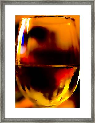 Little Glass Of Wine Framed Print by Stephen Anderson