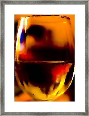 Little Glass Of Wine Framed Print