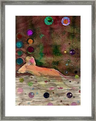 Little Gnaw Skank 6 - Swim Framed Print by Geckojoy Gecko Books