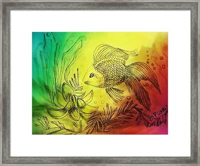 Little Goldfish Framed Print