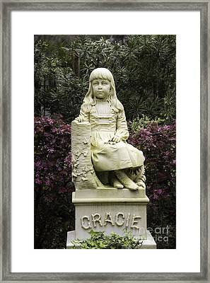 Little Gracie Bonaventure Cemetery Framed Print