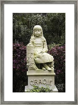 Little Gracie Bonaventure Cemetery Framed Print by Jeannette Hunt