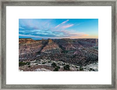 Little Grand Canyon Sunset - Wedge Overlook - Utah Framed Print