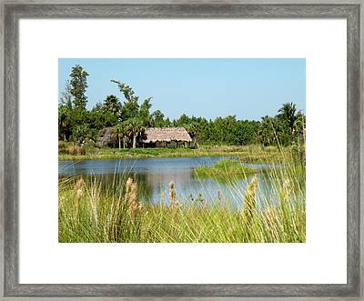 Little Grass Shack Framed Print by Rosalie Scanlon
