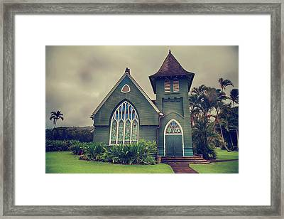 Little Green Church Framed Print by Laurie Search