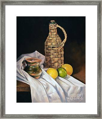 Little Green Jug Framed Print by Ricardo Chavez-Mendez