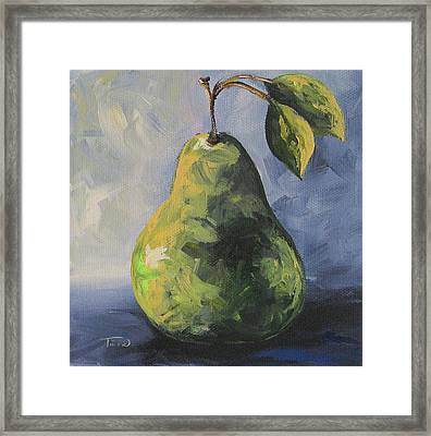 Little Green Pear Framed Print