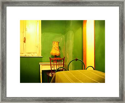 Little Green Room Framed Print